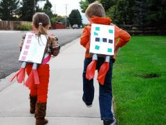 Recycled Jet Pack Costume