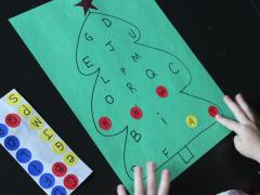 Christmas Tree Alphabet Matching