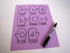 Mitten Match: Uppercase and Lowercase Alphabet Game