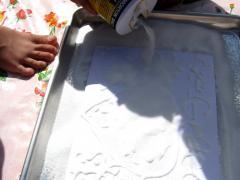 Salt Painting: Olympic Flags