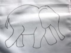 Mosaic Indian Elephant